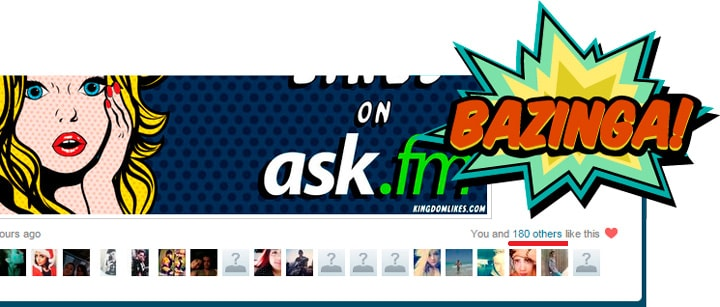 180 Likes in ask.fm question