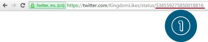URL of the tweet